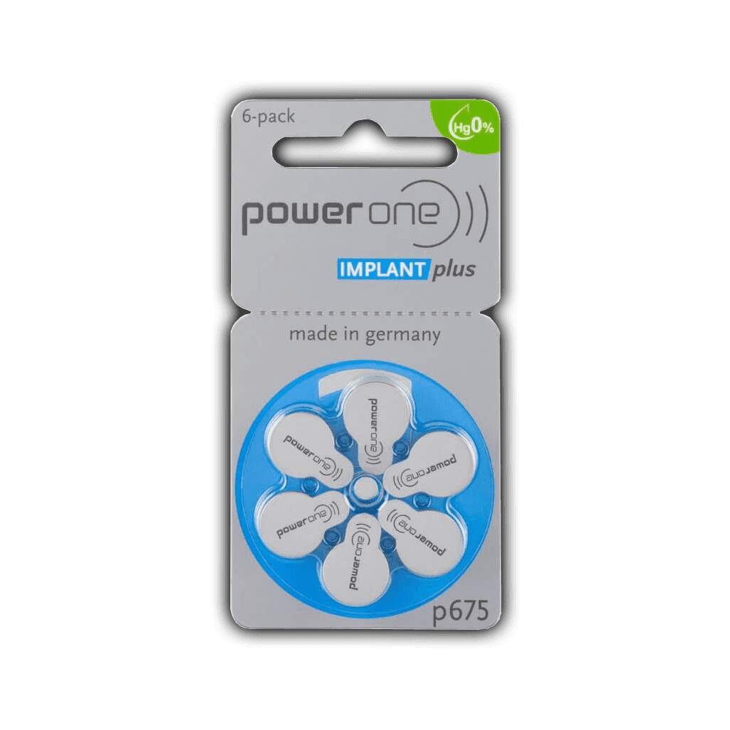 Батарейки Power One p675 implant plus (blister)
